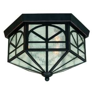 Iron 3 Light Outdoor Ceiling Fixture from the Manches