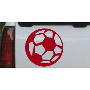 Soccer Ball Sports Car Window Wall Laptop Decal Sticker    Red 22in X