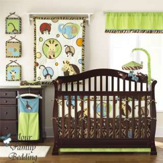 Elephant Monkey Theme Baby Boy Girl Neutral Crib Nursery Comforter
