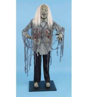 Deluxe 6 Standing Zombie Halloween Prop Decoration *New*