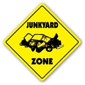 JUNKYARD ZONE Sign xing gift novelty junk yard cars truck