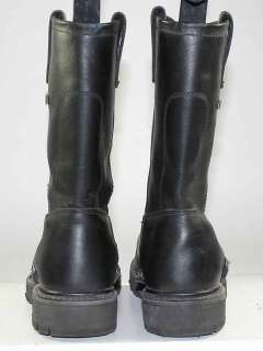 HARLEY DAVIDSON BLACK LEATHER MOTORCYCLE/BIKER SLIP ON BOOTS MENS sz 7