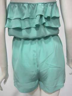 Eight Sixty womens ruffle silk romper shorts $140 New