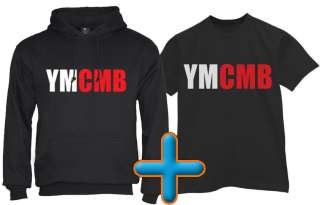 YMCMB T Shirt + Hoodie Money Wayne young weezy lil rap cd hip hop tee