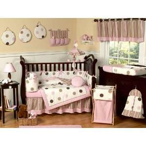 Polka Dots Girls Baby 9 Piece Crib Bedding Set By Jojo Designs Baby