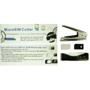 Micro Sim Card Cutter with Adapter [Misc.] Cell Phones