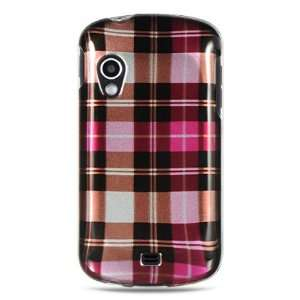 VMG 3 ITEM COMBO Samsung Stratosphere i405 Case   Pink Brown Checkered