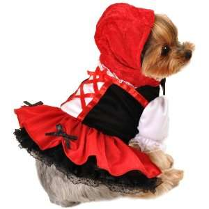 Anit Accessories Red Hood Dress Dog Costume, 8 Inch Pet