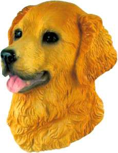 Golden Retriever dog (Head) resin 3D Fridge Magnet PET