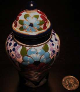 Mexico FolkArt Museum Quality HandCrafted Talavera Vase