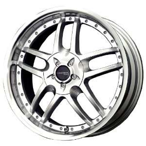 Liquid Metal Core Series Silver Machined Wheel (17x7.5