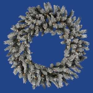 36 Flocked Sugar Pine Christmas Wreath w/ 190T 45 LED