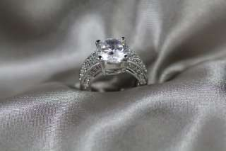 Solitaire CZ Silver Promise Wedding Engagement Ring SZ7
