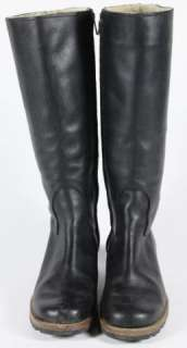 Ugg Black Leather Broome 5511 Mid Calf Boot Shoe Size 6.5