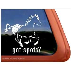 Got Spots? Appaloosa Horse Trailer Vinyl Window Decal