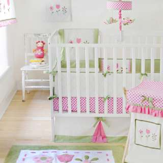 My Baby Sam Tickled Pink Baby Bedding 8 Piece Crib Bedding Set