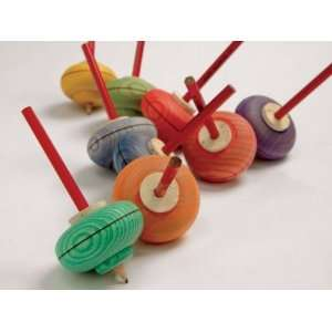 Wooden Spinning Top   Picture Toys & Games