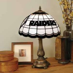 Oakland Raiders Stained Glass Tiffany Table Lamp Sports