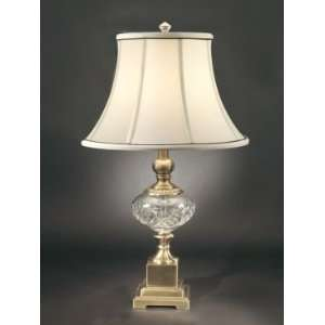 Dale Tiffany San Loren Table Lamp with Antique Brass Mahogany Finish