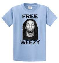 FREE WEEZY SHIRT LIL WAYNE JAIL RAPPER T SHIRT
