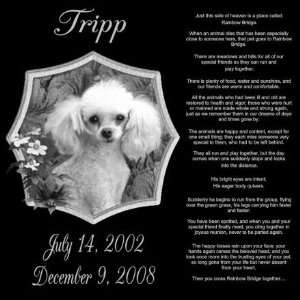 Gifts Personalized Rainbow Bridge Pet Memorial Marker Style Tripp