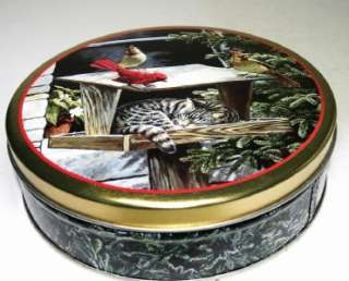 Tin #1 Persis C Weirs CAT NAP Sleeping in Bird Feeder Tin Box