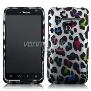 VMG Colorful Rainbow Leopard Animal Print Design Hard 2 Pc