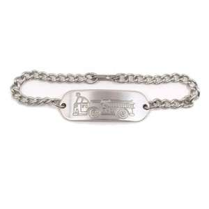 Non Allergenic Stainless Steel Fire Truck Child ID Bracelet IDB 04