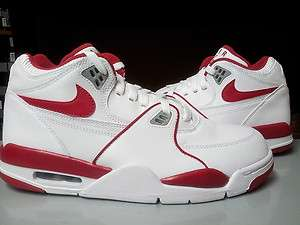306252 105] Mens Nike Air Flight 89 Varsity Red Wolf Grey Basketball