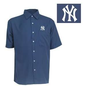 York Yankees Premiere Shirt by Antigua   Navy Large