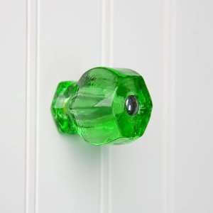 Large Emerald Green Glass Cabinet Knob