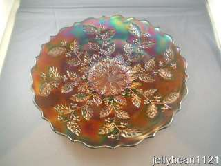 Fenton HOLLY Blue Carnival Glass 9 1/2 Ftd Plate *NEW LOWER PRICE