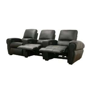 Moondance Black Home Theater Seating   Row of 3