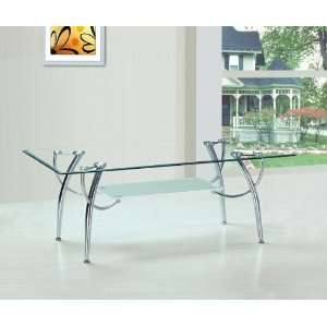 Ukm New Modern Glass & Chrome Coffee Table Office Cafe