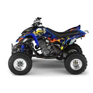 AMR Racing Yamaha Raptor 660 ATV Quad Graphic Kit   Motorhead Blue