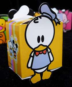 Cutie Donald Party Favor Loot Gift Treat Box ~Birthday