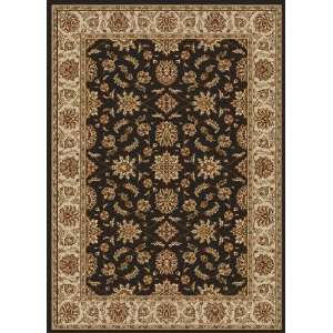 Charcoal Traditional Rug With Border 9.90 x 12.90.