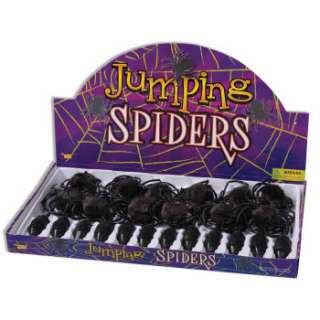 BIG JUMPING HAIRY BLACK SPIDER Fake Joke Prank Scary Gag Jump Bug