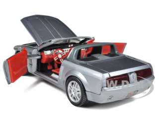 diecast model car of 2004 ford mustang gt convertible concept silver