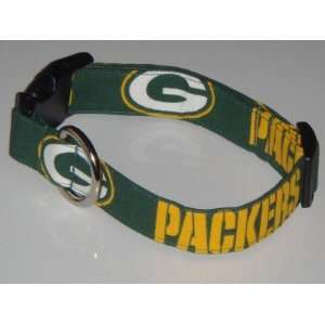NFL Green Bay Packers Football Dog Collar Medium 1 Green