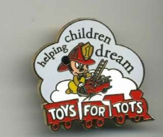 DISNEY 2006 TOYS FOR TOTS BABY FIREMAN MICKEY MOUSE PIN