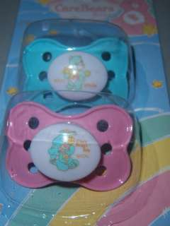 Care Bears Baby 2pc Pacifiers, Funshine, Love A Lot, Bed Time, Baby