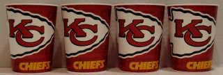 Kansas City Chiefs NFL Party 4 16 oz Plastic Cups