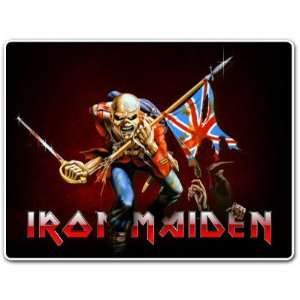 Iron Maiden the Trooper Music Band Car Bumper Sticker Decal 4.5x3.5
