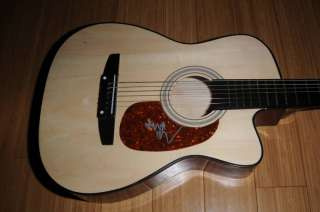 Billy Ray Cyrus Signed Acoustic Guitar Proof