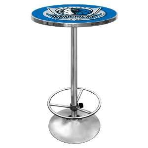 NBA Dallas Mavericks Chrome Pub Table