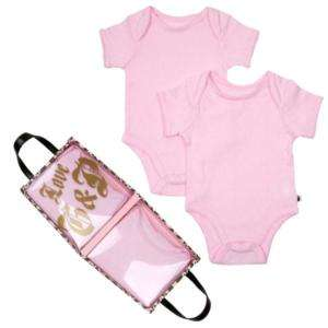 JUICY COUTURE NEWBORN BABY GIRLS PINK BODYSUITS 0   3 Months