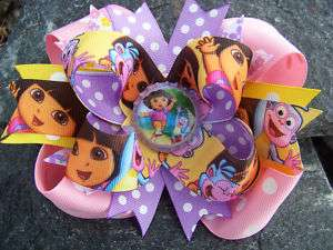 DORA THE EXPLORER & BOOTS GIRLS BOTTLECAP HAIRBOW