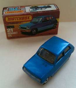 NIB MINT LESNEY MATCHBOX SUPERFAST BLUE RENAULT 5TL 21