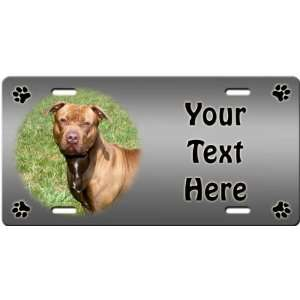 American Pitbull Personalized License Plate Sports
